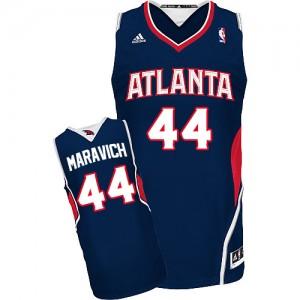 Atlanta Hawks Pete Maravich #44 Road Swingman Maillot d'équipe de NBA - Bleu marin pour Homme