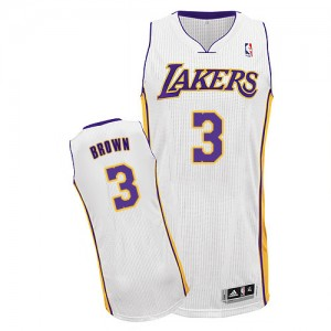 Maillot Authentic Los Angeles Lakers NBA Alternate Blanc - #3 Anthony Brown - Homme