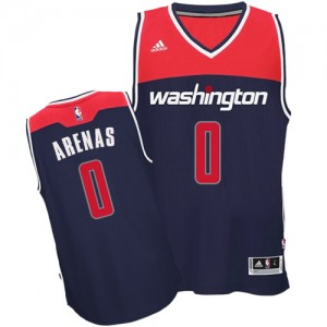Washington Wizards Gilbert Arenas #0 Alternate Authentic Maillot d'équipe de NBA - Bleu marin pour Homme