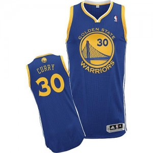 Maillot Authentic Golden State Warriors NBA Road Bleu royal - #30 Stephen Curry - Homme