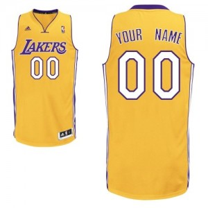 Los Angeles Lakers Swingman Personnalisé Home Maillot d'équipe de NBA - Or pour Enfants