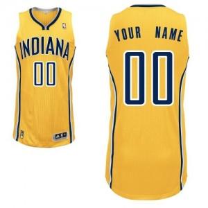 Indiana Pacers Personnalisé Adidas Alternate Or Maillot d'équipe de NBA Prix d'usine - Authentic pour Homme