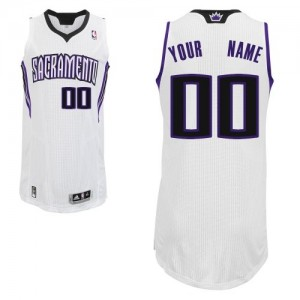 Maillot NBA Sacramento Kings Personnalisé Authentic Blanc Adidas Home - Enfants