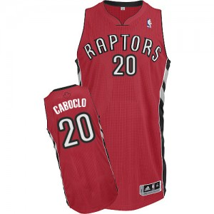 Maillot NBA Toronto Raptors #20 Bruno Caboclo Rouge Adidas Authentic Road - Homme