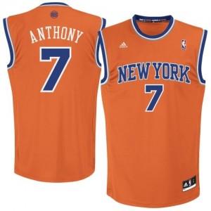 Maillot Adidas Orange Alternate Swingman New York Knicks - Carmelo Anthony #7 - Homme