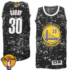 Golden State Warriors Stephen Curry #30 City Light 2015 The Finals Patch Swingman Maillot d'équipe de NBA - Noir pour Homme