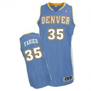 Denver Nuggets Kenneth Faried #35 Road Authentic Maillot d'équipe de NBA - Bleu clair pour Homme
