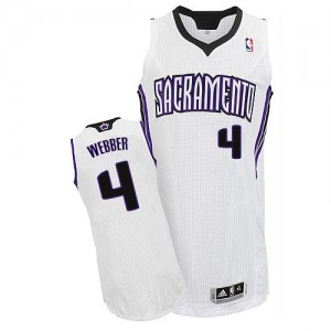 Maillot NBA Authentic Chris Webber #4 Sacramento Kings Home Blanc - Homme