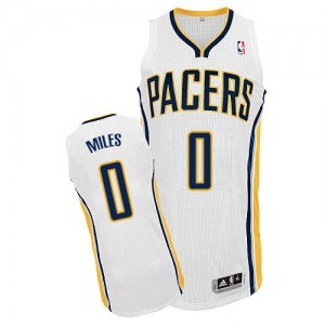 Maillot Adidas Blanc Home Authentic Indiana Pacers - C.J. Miles #0 - Homme