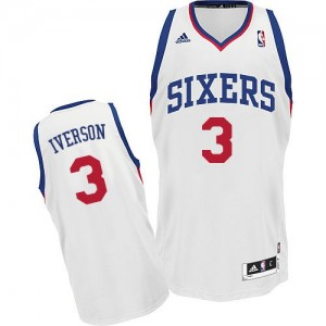 Maillot Swingman Philadelphia 76ers NBA Home Blanc - #3 Allen Iverson - Homme