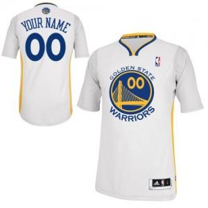 Maillot NBA Golden State Warriors Personnalisé Authentic Blanc Adidas Alternate - Femme