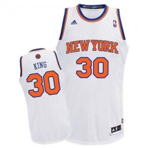 Maillot Adidas Blanc Home Swingman New York Knicks - Bernard King #30 - Homme