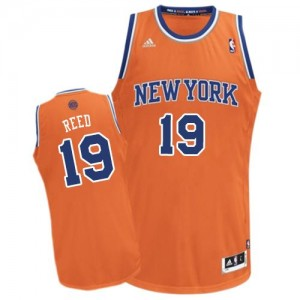 New York Knicks #19 Adidas Alternate Orange Swingman Maillot d'équipe de NBA en ligne - Willis Reed pour Homme