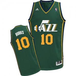 Maillot NBA Vert Alec Burks #10 Utah Jazz Alternate Swingman Homme Adidas