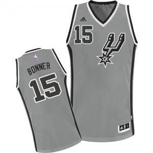 Maillot NBA Swingman Matt Bonner #15 San Antonio Spurs Alternate Gris argenté - Homme