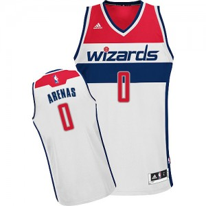 Maillot NBA Washington Wizards #0 Gilbert Arenas Blanc Adidas Swingman Home - Homme