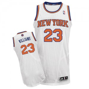 Maillot NBA Authentic Derrick Williams #23 New York Knicks Home Blanc - Homme