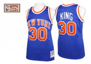 Maillot NBA New York Knicks #30 Bernard King Bleu royal Mitchell and Ness Authentic Throwback - Homme