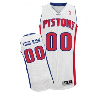 Maillot NBA Authentic Personnalisé Detroit Pistons Home Blanc - Enfants