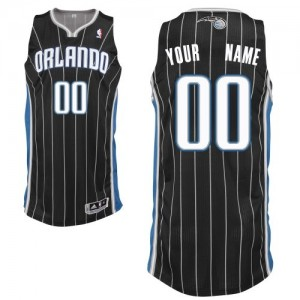 Maillot NBA Noir Authentic Personnalisé Orlando Magic Alternate Femme Adidas