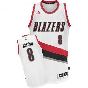 Portland Trail Blazers Al-Farouq Aminu #8 Home Swingman Maillot d'équipe de NBA - Blanc pour Homme