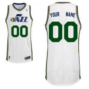 Utah Jazz Authentic Personnalisé Home Maillot d'équipe de NBA - Blanc pour Homme