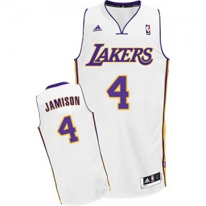 Maillot Adidas Blanc Alternate Swingman Los Angeles Lakers - Byron Scott #4 - Homme
