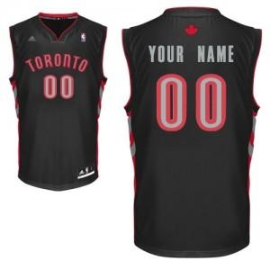 Maillot Adidas Noir Alternate Toronto Raptors - Swingman Personnalisé - Homme