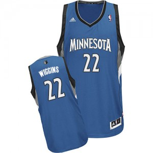 Maillot Adidas Slate Blue Road Swingman Minnesota Timberwolves - Andrew Wiggins #22 - Homme