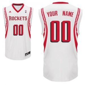 Maillot Adidas Blanc Home Houston Rockets - Swingman Personnalisé - Homme