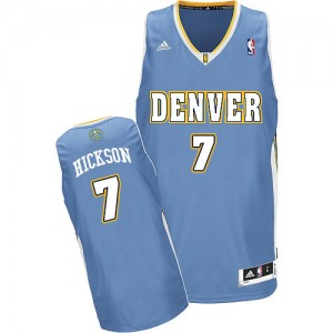 Maillot Adidas Bleu clair Road Swingman Denver Nuggets - JJ Hickson #7 - Homme