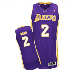 Los Angeles Lakers #2 Adidas Road Violet Authentic Maillot d'équipe de NBA Prix d'usine - Brandon Bass pour Homme