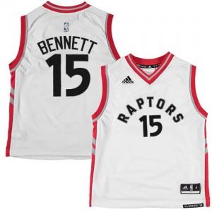 Toronto Raptors Anthony Bennett #15 Authentic Maillot d'équipe de NBA - Blanc pour Homme