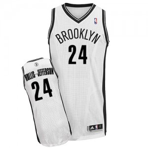 Maillot Adidas Blanc Home Authentic Brooklyn Nets - Rondae Hollis-Jefferson #24 - Homme