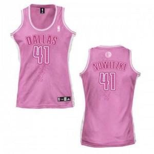 Dallas Mavericks Dirk Nowitzki #41 Fashion Swingman Maillot d'équipe de NBA - Rose pour Femme