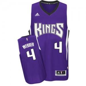 Sacramento Kings Chris Webber #4 Road Swingman Maillot d'équipe de NBA - Violet pour Homme