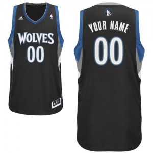 Maillot Minnesota Timberwolves NBA Alternate Noir - Personnalisé Swingman - Enfants