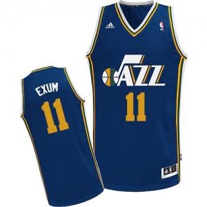 Maillot Adidas Bleu marin Road Swingman Utah Jazz - Dante Exum #11 - Homme