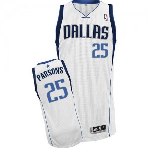 Dallas Mavericks Chandler Parsons #25 Home Authentic Maillot d'équipe de NBA - Blanc pour Homme