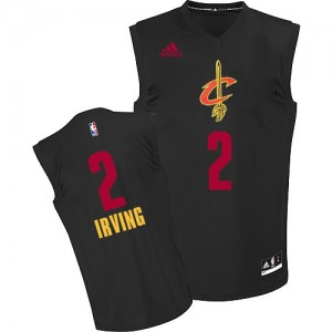 Maillot Authentic Cleveland Cavaliers NBA New Fashion Noir - #2 Kyrie Irving - Homme