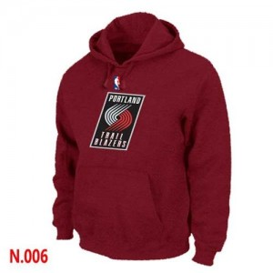 Sweat à capuche NBA Rouge Portland Trail Blazers Homme