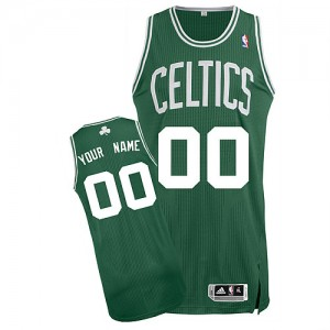 Maillot NBA Vert (No Blanc) Authentic Personnalisé Boston Celtics Road Homme Adidas