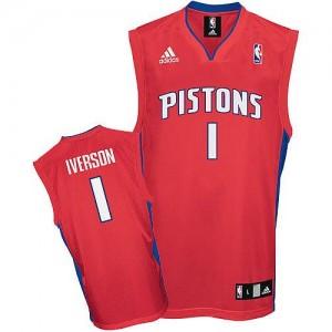 Maillot Swingman Detroit Pistons NBA Rouge - #1 Allen Iverson - Homme