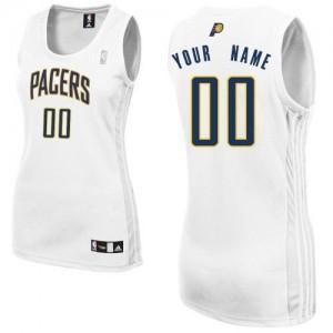 Indiana Pacers Authentic Personnalisé Home Maillot d'équipe de NBA - Blanc pour Femme