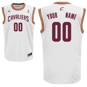 Cleveland Cavaliers Personnalisé Adidas Home Blanc Maillot d'équipe de NBA Braderie - Swingman pour Homme