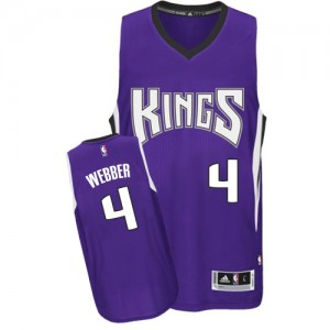 Maillot Adidas Violet Road Authentic Sacramento Kings - Chris Webber #4 - Homme
