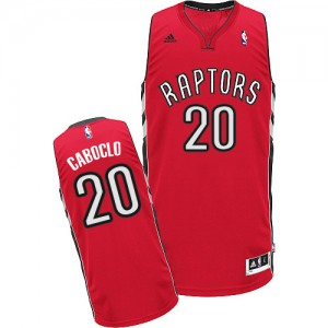 Maillot Adidas Rouge Road Swingman Toronto Raptors - Bruno Caboclo #20 - Homme