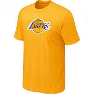 Los Angeles Lakers Big & Tall Jaune Tee-Shirt d'équipe de NBA Magasin d'usine - pour Homme