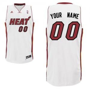 Maillot NBA Miami Heat Personnalisé Swingman Blanc Adidas Home - Enfants