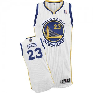 Maillot Authentic Golden State Warriors NBA Home Blanc - #23 Draymond Green - Homme
